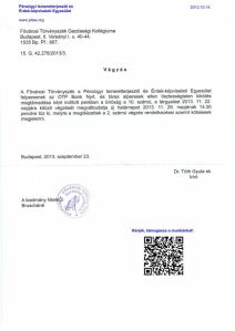 20131129-PITEE-Idezes-Kozerdeku Kereset OTP