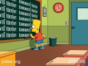 PITEE-Simpsons-Bart-Bankmento Torveny